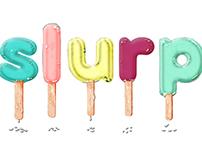 Slurp Ice Cream Parlour Graphic Design