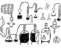 wine making sketch