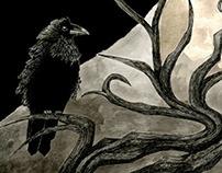 Edgar allen Poe book cover WIP