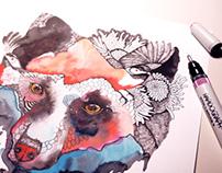 Surrealistic Wildlife by Olaliola-watercolor