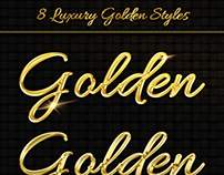 8 Luxury Golden Text Styles