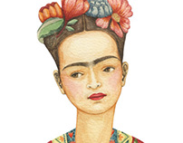 Frida Kahlo Paper Doll.