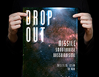 Drop Out poster design
