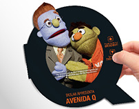 """Avenida Q"" Invitation"