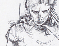 Sketching on Paris subway - #2