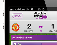 Live football scores iOS and Android mobile app