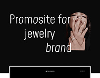 Promosite for jewelry brand