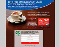 Agent Rewards Program Starbucks eCard Offer