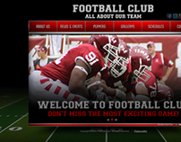 Football Club All About Our Team HTML5 Template