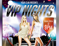 VIP NIGHTS PARTY FLYER