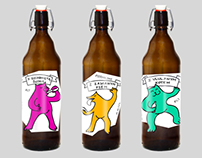 Bottled Animals - beer labels
