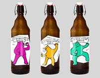Bottled Animals - beer labels