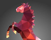 Stallion Polygon Vector