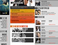 Entertainment Site Design