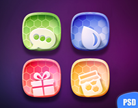 Free PSD of Colorful icons Set