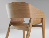 Merano Chair - product visualisation
