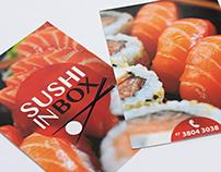 Identidade e materiais gráficos para Sushi in Box