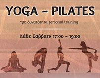 Poster and Flyer for yoga-pilates lessons