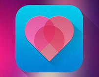"""""""Pinkheart"""" IOS icon"""