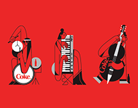 Coca-Cola Sleek Cans Illustrations