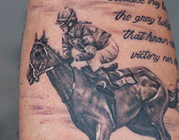 Horse with Script Tattoo