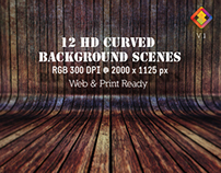 12 HD Curved Background Scenes
