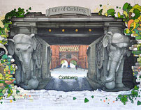 Elephant gate of Carlsberg city - 3D painting