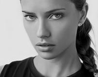 Adriana Lima Digital Portrait