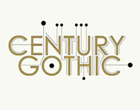 Century Gothic Logo and Font Poster