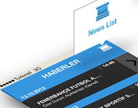 KAP Haberleri UX / UI Mobile App Design
