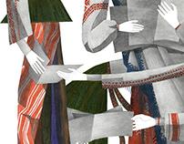 Cover illustration for The Riveter magazine
