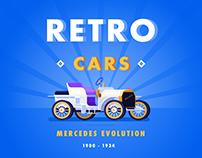 Retro Cars Illustrations