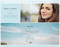 Web Designer AMP HTML Profile Template