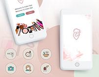 Makeup Services App UI/UX in iOS