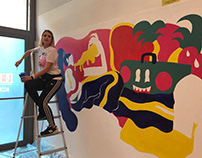 Mural at Trueno Rayo Festival