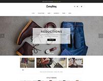 Shopify theme & Magento theme design for fashion store