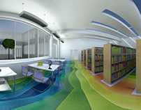Panoramic 3D Interior Visualizations of School Scenes