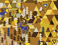 Alps.Collection of prints for silk scarves.