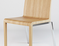 Pedrali Zen chair - product visualisation