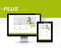 Web design & Newsletter Design for PLUS praktik
