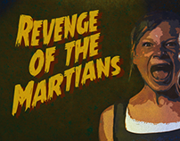 Revenge of the Martians, B-movie poster