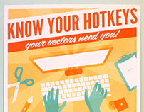 Know Your Hotkeys Posters | Keyboard Shortcuts