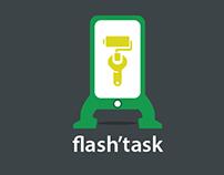 Interface Smartphone pour la définition de tâche.