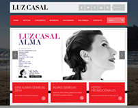 Rediseño web Luz Casal (wordpress theme)