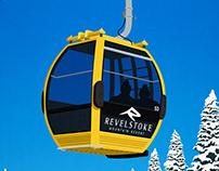 Revelstoke Ski Resort Poster