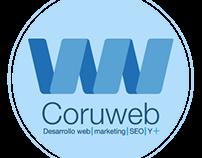 Creación de logotipo y aplicaciones del mismo: coruweb