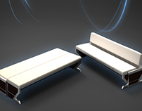 Furniture Design, box desk & sofa bed