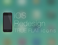 iOS 7 Redesign - True Flat icons