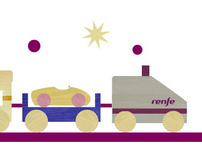 Renfe's Christmas train (christmas site)