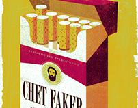 CHET FAKER - Gigposter